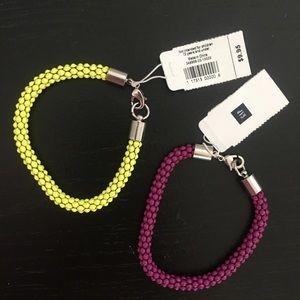 — GAP — Set of 2 Bracelets Purple & Yellow